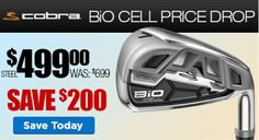 Just in! Cobra BiO Cell price drop! Save $200 when you come in today. http://www.progolfseattle.com/current-sale