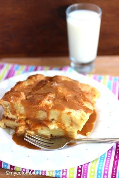 Pudín de Pan (Bread Pudding)|mycolombianrecipes.com