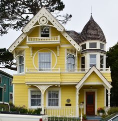 I think this is about as light as you could go on a yellow house. Any lighter would start to just be pale.