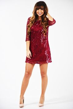 Cocktail For Two Dress: Garnet #shophopes