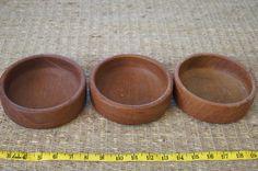 Vintage 1960's - Kalmar teak wood salad bowls -Set of 3 by TheMercerStreetHouse on Etsy