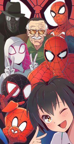 (Spider man in the spider verse) - Marvel Comics Marvel Dc Comics, Marvel Fan Art, Marvel Funny, Marvel Memes, Ms Marvel, Captain Marvel, Vexx Art, Spiderman Kunst, Spiderman Spiderman
