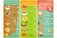 European Cuisine Menu by elfivetrov on @creativemarket