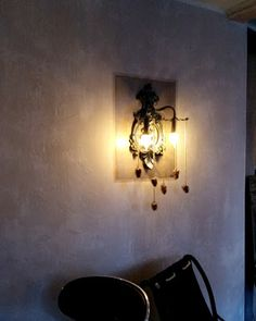 Interior crisp: Great upcycling idea of lighting, in a chalet hotel.