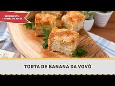 Torta de Banana da Vovó - Receitas de Minuto #279 - YouTube