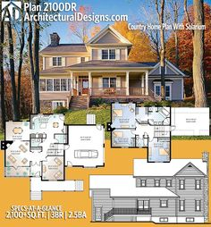Architectural Designs House Plan 2100DR gives you 3 beds, 2.5 baths and over 2,100 square feet of heated living space. Ready when you are. Where do YOU want to build? #2100dr #adhouseplans #architecturaldesigns #houseplan #architecture #newhome #newconstruction #newhouse #homedesign #dreamhome #dreamhouse #homeplan #architecture #architect #country