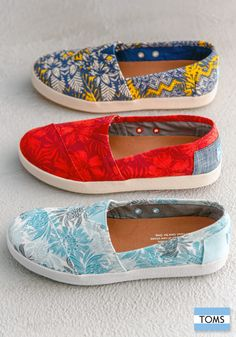 Fun new spring look, same opportunity to give. Click to shop TOMS new Avalon Slip-Ons.