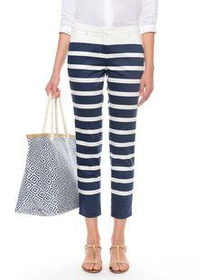 Pantaloni a righe, blu marino bianco - 4ANGIO Diffusione Tessile