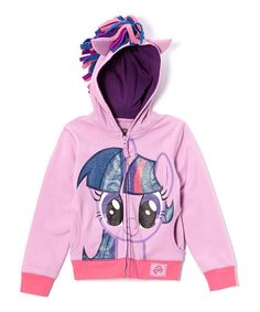 Take a look at the Purple Twilight Sparkle Zip-Up Hoodie - Girls on #zulily today!