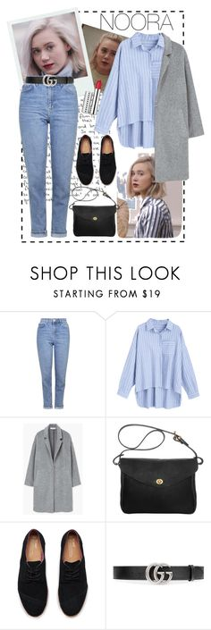 """F*ck*ng hell ,you´re so beautiful."" by cotyzaragoza ❤ liked on Polyvore featuring Topshop, MANGO, Mimi Berry, TOMS, Gucci, Clinique, noora and skam"