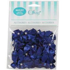 Offray® Bows with Pearls Value Pack, Royal Blue Royal Blue Wedding Cakes, White And Gold Wedding Cake, Retro Wedding Hair, Elegant Wedding Hair, Wedding Color Schemes, Wedding Colors, Royal Blue Centerpieces, Pearl Decorations, Wedding Decorations