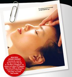 Pin this in for a soothing head massage at an award-winning luxury day spa in Singapore and more, as highly recommended by prestigious beauty, spa and travel magazines. By The Lawn of Singapore's historic Raffles Hotel (birthplace of Singapore Sling). #massagesingapore #spasingapore #singapore