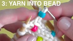 STEP BY STEP INSTRUCTIONS to Knit Beads into any project by Studio Knit