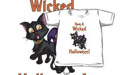 A Wicked Halloween Kids Clothes #cats #blackcat #pets #halloween #happyhalloween