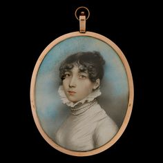 Portrait miniature of a Lady, traditionally called Georgina Sophia Daniell (bap....