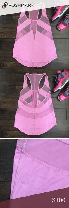 LULULEMON If you're Lucky Tank 6 Lululemon tank with mesh cut outs lululemon athletica Tops Tank Tops