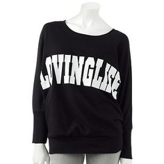 """over-sized sweatshirts """"lovinglife"""""""