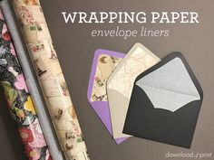 DIY Wrapping Paper Envelope Liners | Download & Print