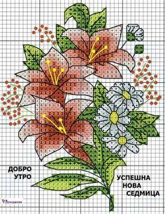 Cross Stitch Cards, Cross Stitch Flowers, Cross Stitching, Cross Stitch Designs, Cross Stitch Patterns, Handicraft, Pixel Art, Crafty, Embroidery