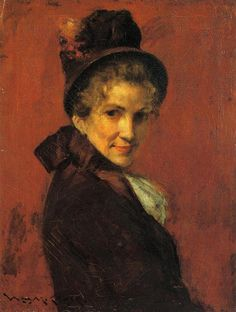 Portrait of a Woman,1885 - William Merritt Chase, (1849-1916), American
