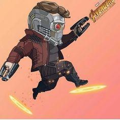 Starlord_Guardianes de La Galaxia-(01) Marvel Films, Marvel Art, Marvel Heroes, Marvel Avengers, Chibi Characters, Marvel Characters, Star Lord, Chibi Marvel, Marvel Tattoos