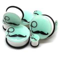 images of home glow in the dark mustache & monocle ear gauges wallpaper