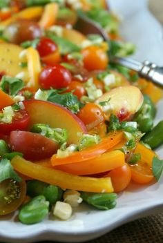 Farmer's Market Salad with Honey Lime Vinaigrette