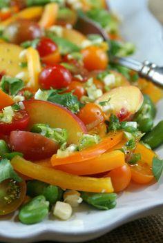 Farmer's Market Salad with Honey Lime Vinaigrette