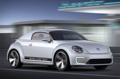 VW Bug and an eco-friendly all-electric drivetrain, the Volkswagen E-Bugster Concept