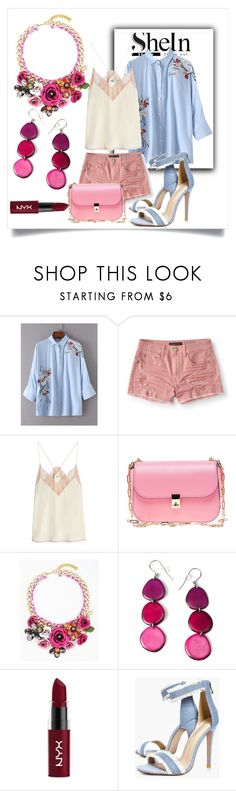 """""""Cute Casual Outfit :pink and blue"""" by jan-fr ❤ liked on Polyvore featuring Aéropostale, Zadig & Voltaire, Valentino, Encanto, NYX and Boohoo"""