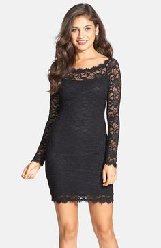 Love this lace dress - the boat neckline is amazing!   #homecoming