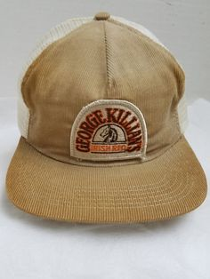 Vtg George Killians Irish Red Beer Corduroy   Mesh 5 Panel Adj Snapback Ball  Cap c5dfd9b6e5f8