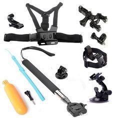 Combo AFUNTA 6 en 1 paquete kit accesorios GoPro GoPro Hero 3 + 3/2/1 / digital... -
