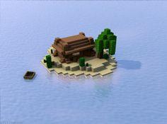 Minecraft Island home. by seput.deviantart.com on @deviantART