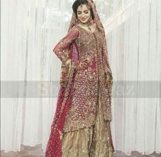 d3068f6d5c0 wedding indian pakistani walima sharara trail lehenga anarkali bridal dress  new