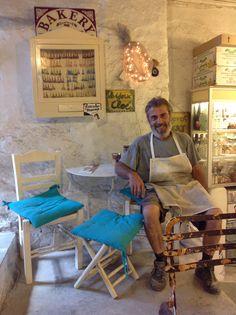 Take five to rest. Mykonos wood bakery