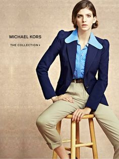 Michael Kors / Saks - like the color combi, not the collar though