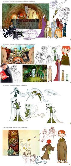 Artes de produção do filme The Secret of Kells | THECAB - The Concept Art Blog