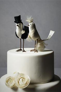 Princely Pair Cake Topper from BHLDN Bird Cake Toppers, Wedding Cake Toppers, Wedding Cakes, Bird Cakes, Cupcake Cakes, Blog Renata, Diy Wedding, Dream Wedding, Bhldn Wedding