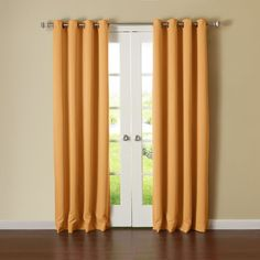 Amazon.com - Best Home Fashion Thermal Insulated Blackout Curtains -... ($48) ❤ liked on Polyvore featuring home, home decor, window treatments, curtains, thermal window treatments, thermal panels, thermal window coverings, orange curtains and orange home accessories