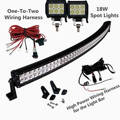 45 best off road led lights images on pinterest led light bars solidex 288w 50inch off road curved combo led light bar 2pcs 18w spot light bar free aloadofball Choice Image