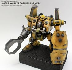 "Custom Build: HG 1/144 Mobile Worker Late Type ""CATERPILLAR ver."" - Gundam Kits Collection News and Reviews"