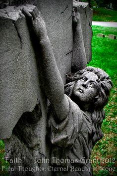 """Faith"" (taken @ Green-Wood Cemetery, Brooklyn, NY) Standard format - 8.5 x 11 (other sizes quoted by request) Metallic Paper w/lustre coating Signed and Dated Cost - $20.00 shipping included"