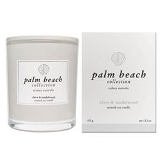 Prime your home for relaxation with the Palm Beach Collection Candle 375g in Clove and Sandalwood. This exquisite soy candle is hand-poured in Australia and offers up to 80 hours burn time. Let its stunning scent fill your home and create a perfumed ambience.