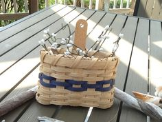 Small Gathering Basket by AHMBaskets on Etsy