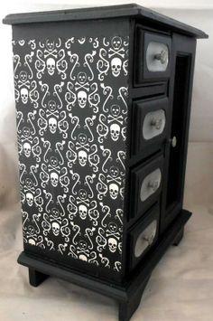 Skull nightstand