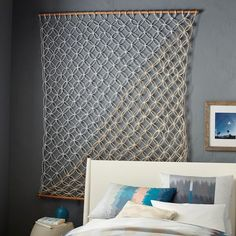 Metallic Macrame Wall Hanging | west elm