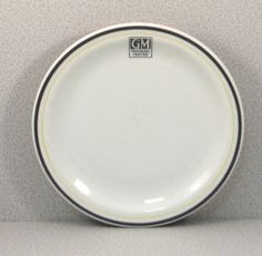 Vintage 1950s GM Training Center Restaurant China Small Plate by VintageCreekside, $12.00