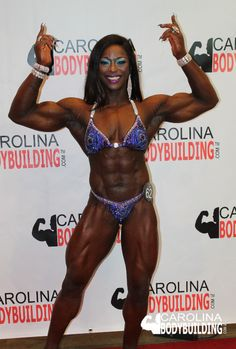 2018 IFBB CHAMPIONS OF POWER AND GRACE Women's Physique Winner Sheronica Henton   #FBBPro #WomenPhysique #bodybuildingShow #WomenFitness #FitMom Bodybuilding Workouts, Physique, North Carolina, Bikinis, Swimwear, Athlete, Champion, Wonder Woman, Superhero