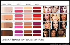 Lip color for skin shade